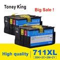 Toney King совместимый чернильный картридж для HP 711 CZ133A CZ130A CZ131A CZ132A Замена для HP DesignJet T520 T120 струйный принтер