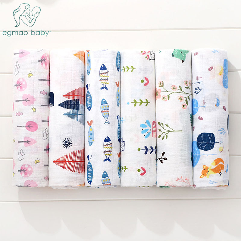 Muslin Swaddle Blankets 1 Pack Baby Blanket For Newborns Swaddle Blanket, Swaddle Wrap, Muslin Swaddle And Receiving Blankets