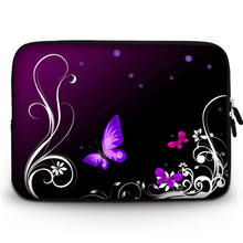 Purple Butterfly Neoprene Gentle Sleeve Bag Case Pocket book Cowl for 11″ 13″ 15″ Macbook Air Professional Retina Ultrabook Laptop computer Pill PC