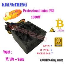 Kuangcheng Eth zcash Шахтер золото мощность 1500 Вт kenwei 1500 Вт btc источника питания для RX 470/570 RX480/ 580 6 GPU карты