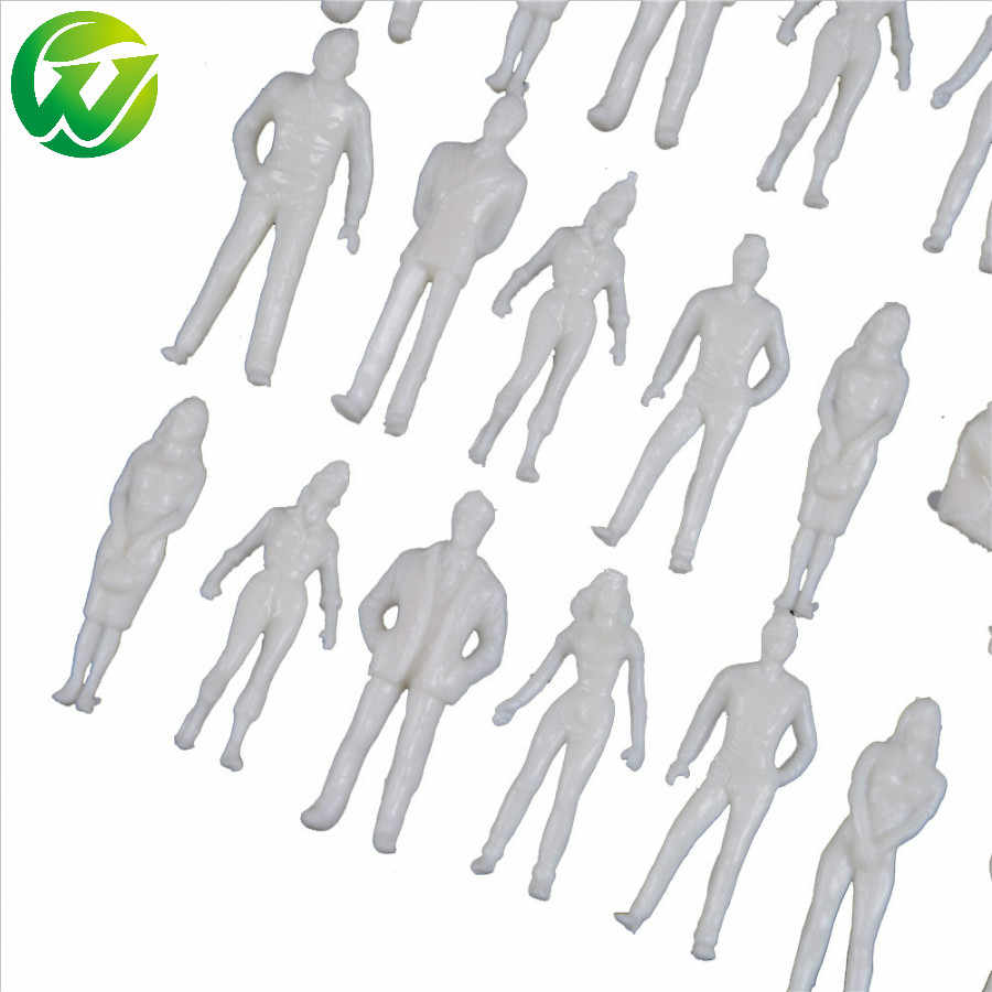 1:25-1:300 Scale 100PCS White unpainted Architectural Model Figures People hot sale