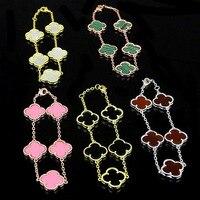 Women Charm Clover Bracelet Agate And Bracelet Flower Shell