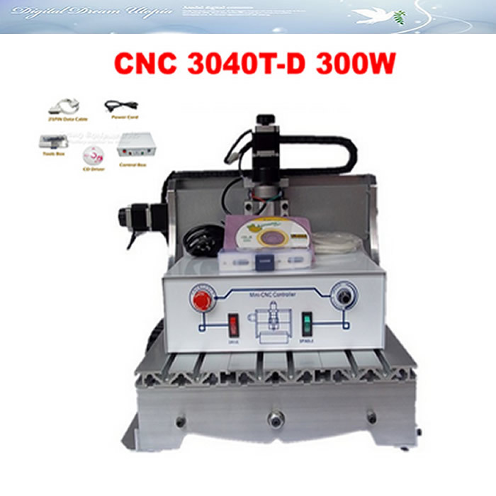 Russia NO TAX! milling and engraving cnc 3040T -D300 wood carving machine with 300W DC power spindle motor russia no tax 1500w 5 axis cnc wood carving machine precision ball screw cnc router 3040 milling machine