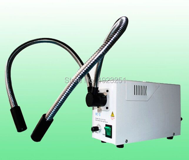 Best 24v 150W Microscope Halogen fiber cold Light source Dual gooseneck fiber microscopes illumination