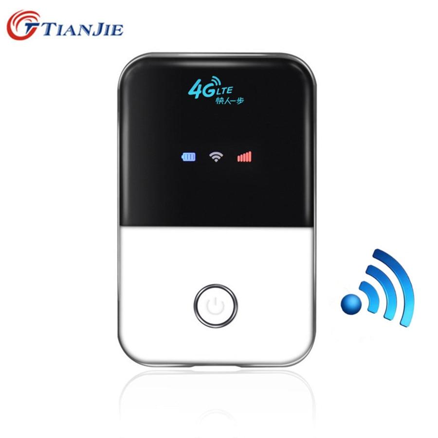 Tianjie 4g wifi roteador lte sem fio mini móvel wi fi portátil bolso hotspot carro 3g 4g desbloqueado modem com slot para cartão sim