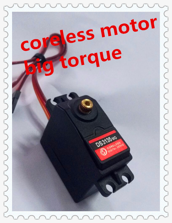 35 kg de alto par motor sin núcleo servo DS3135-180 deg Metal engranaje servo digital arduino servo para robótico DIY, coche RC