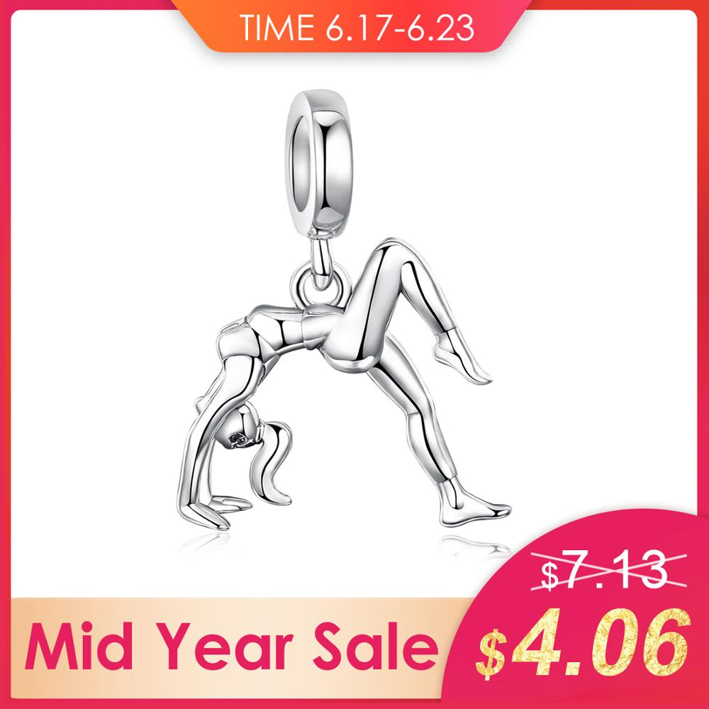 JewelryPalace 925 Sterling Silver Dangling Gymnastic Girl Bead Charm Fit Bracelets Fashion DIY Charm For Women JewelryJewelryPalace 925 Sterling Silver Dangling Gymnastic Girl Bead Charm Fit Bracelets Fashion DIY Charm For Women Jewelry