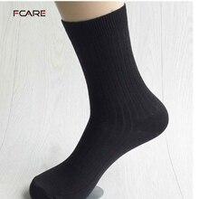 Fcare 10 шт. = 5 пар бамбуковые волокна мужчины платье носки белый черный серый темно-синий длинные носки calcetines sokken hombre meias(China (Mainland))