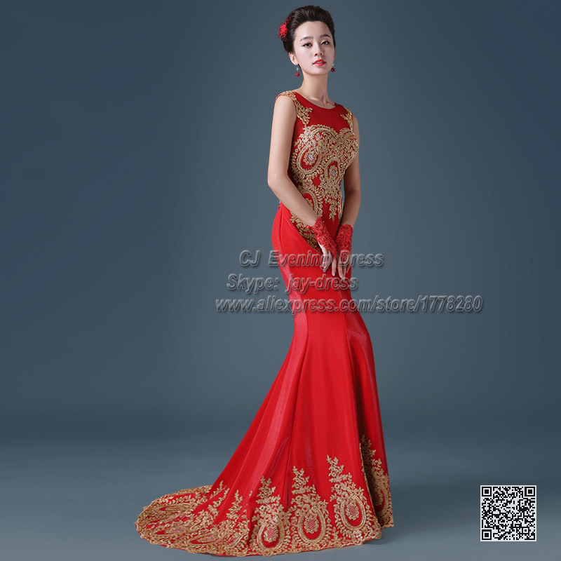 Robe de soiree orientale rouge