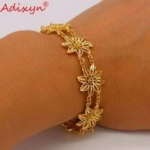 Adixyn браслет в форме цветка золотой цвет африканская ручная