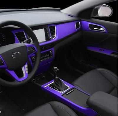Mobil Interior Film Matt Plating Es Film Warna Film Penghalang Dalam Kontrol Panel Instrumen Perubahan Dekoratif Stiker-130