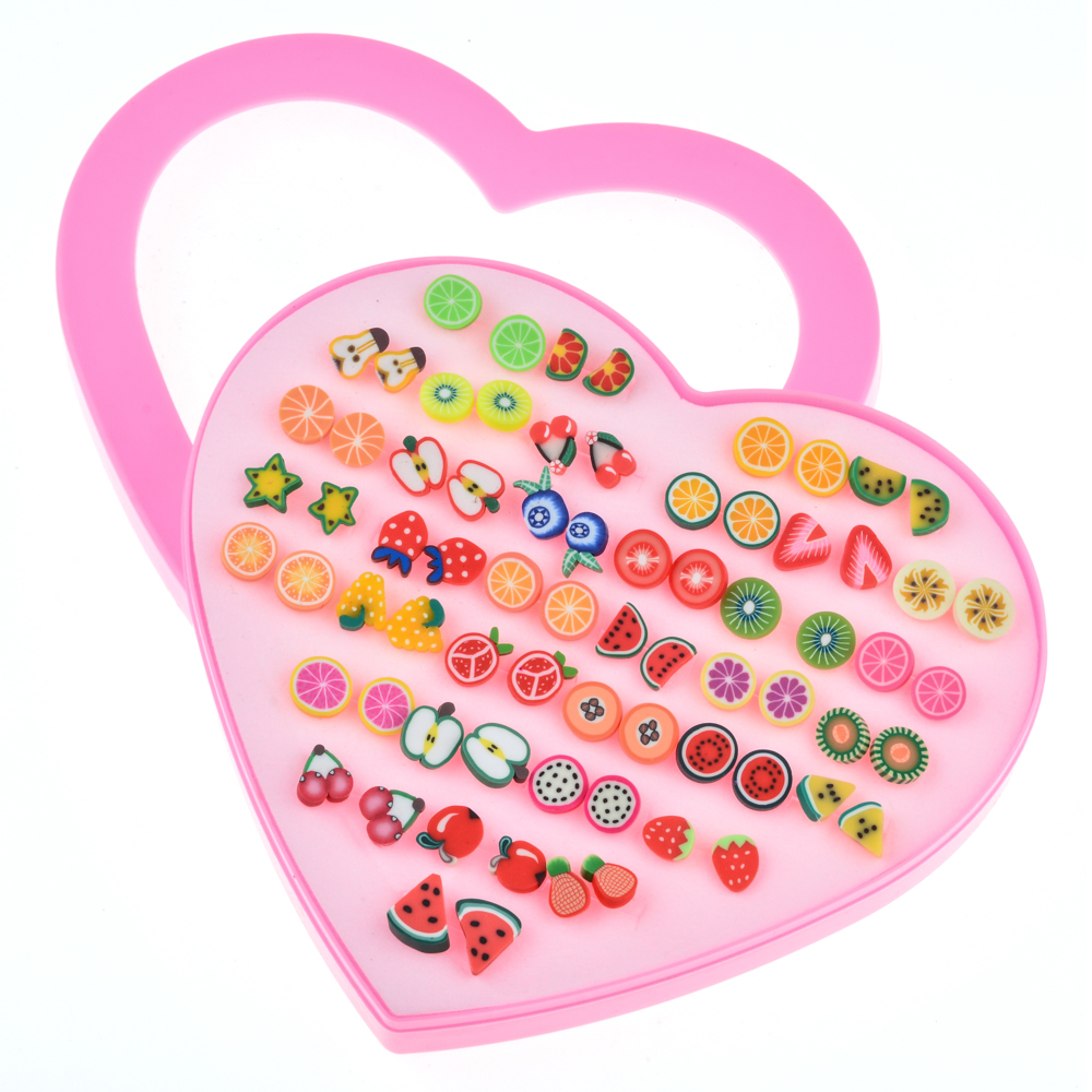 36 Pairs of Hypoallergenic Stud Earrings Set Party Favor for Women Girls Kids Christmas Gift 09