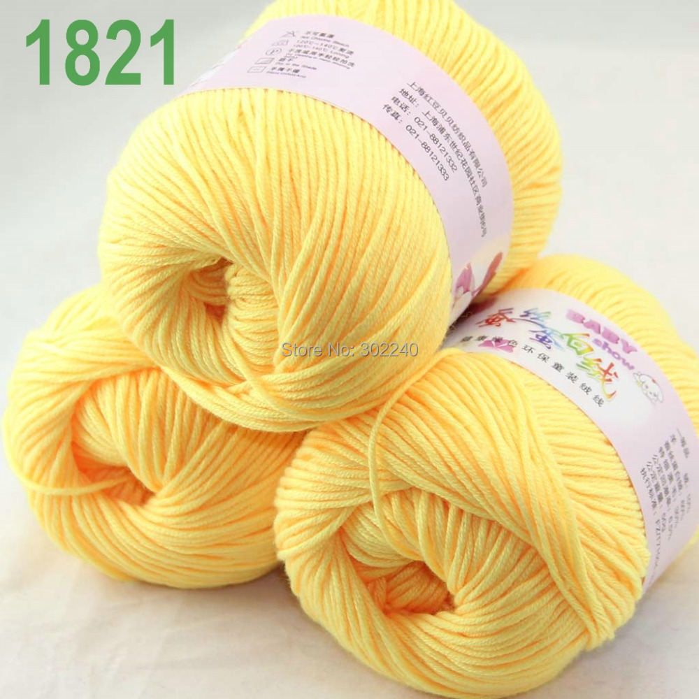 Sale 1 Ball x 50g Cashmere Silk Wool Children Hand Knit Shawls Crochet Yarn 30