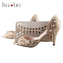 BS009 Custom Made Gold Rhinestones Shoes And Matching Bag Set Women D Orsay Wedding  Shoes Evening Bags d02ee71b68b2