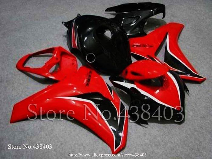 * red INJ CBR1000RR 08 09 INJECTION MOLD black CBR1000 RR 2008 2009 Body Kit Fairing honda CBR 1000 Fireblade 2 - yuxia song's store
