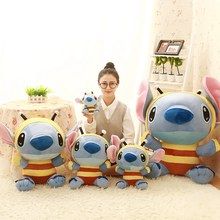 2019 New Kawaii Stitch Plush Toys Stuffed Plush Dolls Bee Lilo & Stitch Toys Peluche Kids Birthday Xmas Gift Pusheen(China)