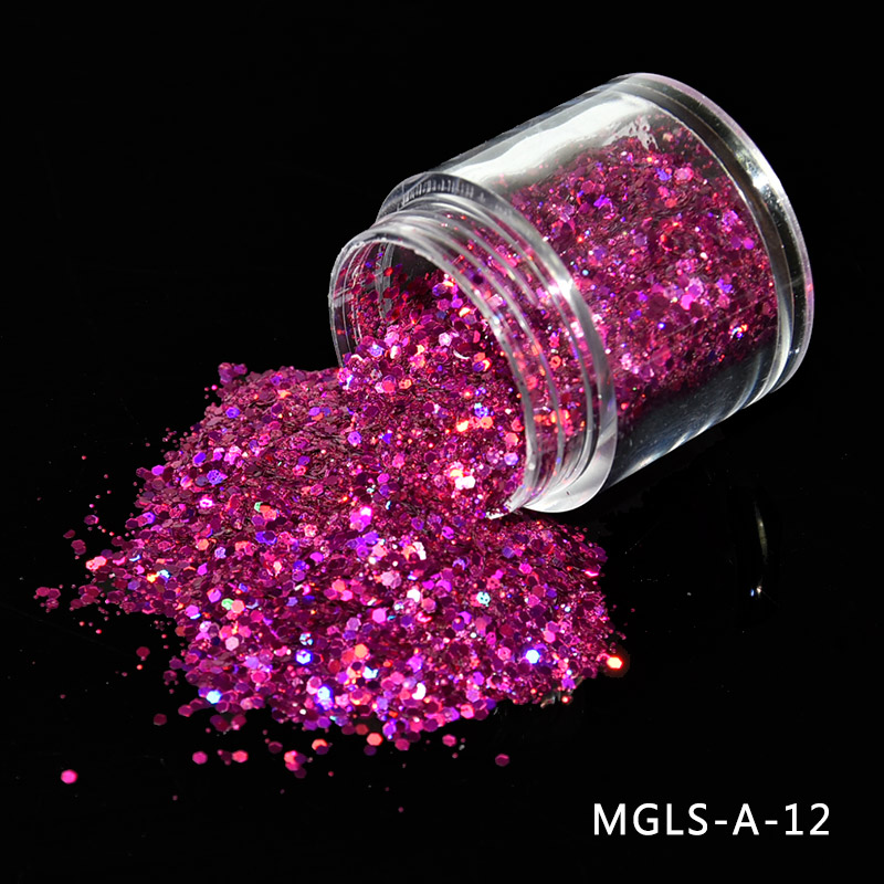 Nail 1 Jar 10g Laser Holographic Glitter Silver Shiny Laser Powdere Nail Glitter Powder For Gel 0 2 1mm Nail Art Glitter in Nail Glitter from Beauty Health