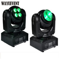 4PCS/Lot New Arrive Compact Unlimited Rotating Led Moving Head Light Double Faces 8*10W RGBW Mini Moving Head Beam Light DMX