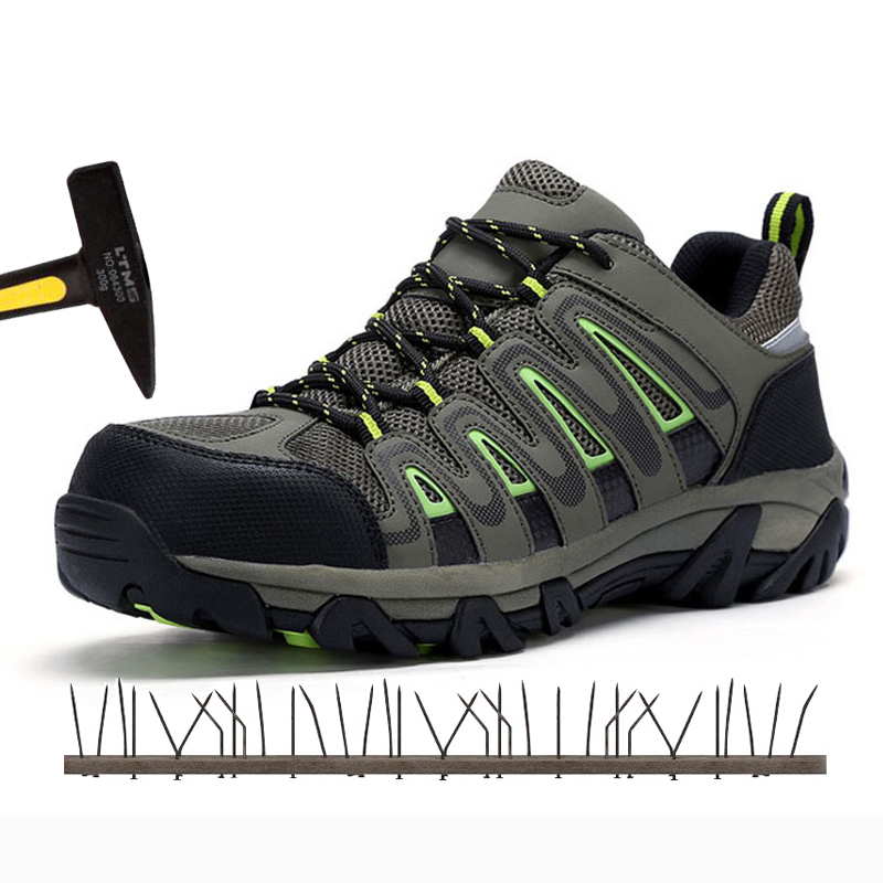 Anti-Smashing Puncture Proof Males's Sneakers Metal Toe Cap Safety Sneakers Breathable Climbing Sneaker Particular Work Footwear