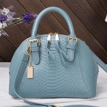 Neue Crocodile Frauen Handtasche Frau Smiley Tasche Leder Handtaschen frauen Umhängetasche Marke Hohe Qualität Alligator Einkaufstasche 35ZD