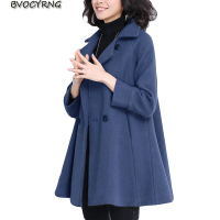 Hot Spring Autumn Big Yards Casaco Outerwear Feminino Korean Medium Style Womens Loose Coats Female Overcoat