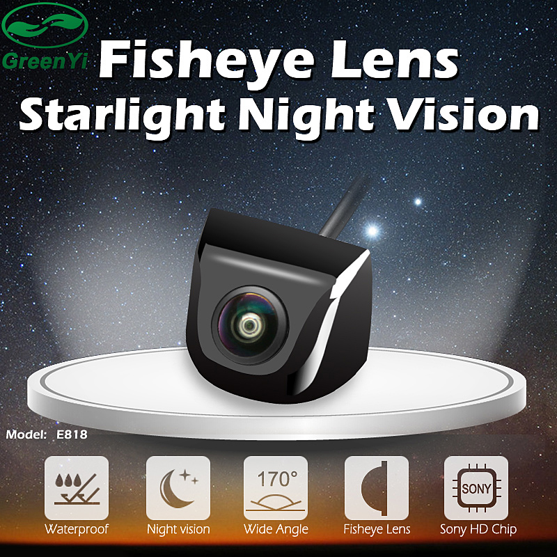HD Starlight Night Vision 170 Degree Sony/MCCD Fisheye Lens Car Reverse Backup Rear View Camera Low-light Level 15m Visible