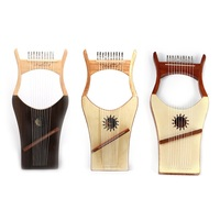 Spruce Solid Wood harp 10 string Lyre string instrument Greek niche instrument Mahogany wood lyre portable Lyric play instrument