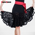 Latin Dance Skirt Lace Flower Cha Cha/Rumba/Samba/Ballroom Clothing For Dance Fitness Clothes Vestidos De Baile Latino DQY10103