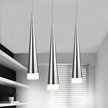 цены Modern LED lamp pendant light Aluminum Metal Plating taper dining sitting room bar cafe shop hanging lighting fixture AC110-265V