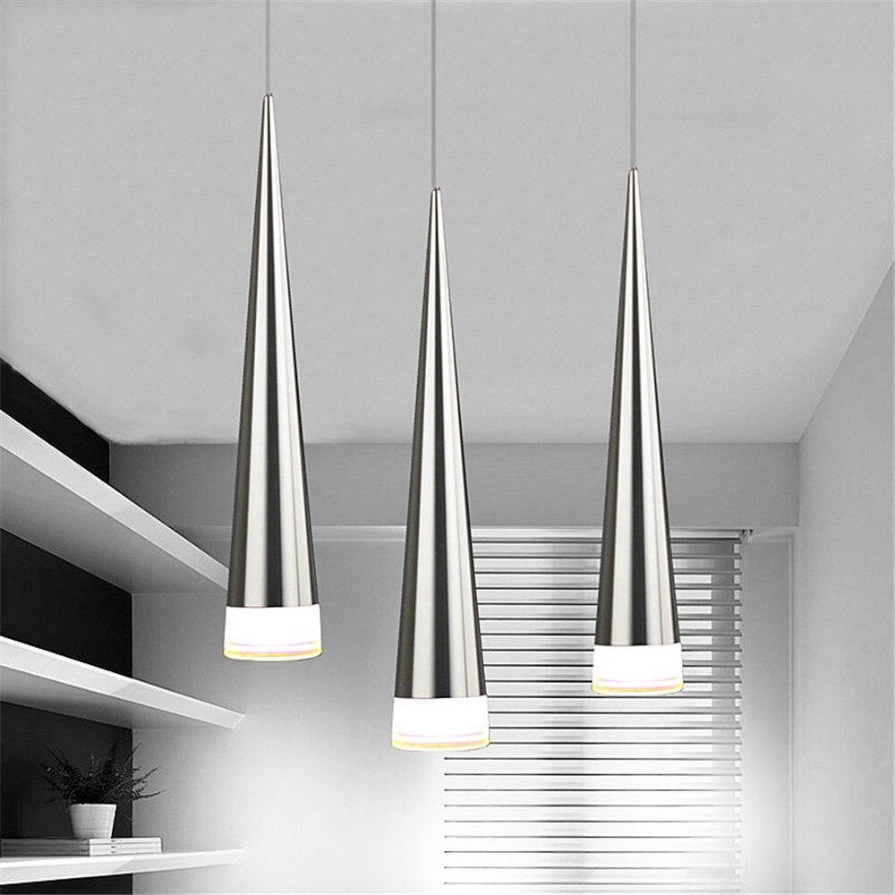 ①nowoczesne Led Wisząca Lampa Aluminium Metal Poszycia
