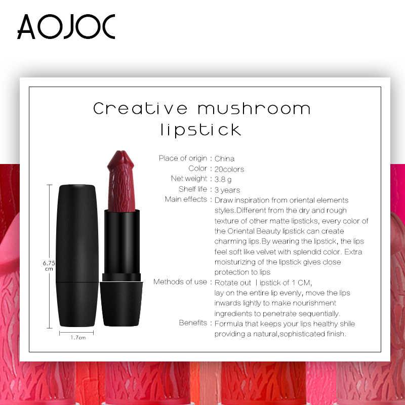 20 Colors Penis Shape Lips Makeup Cosmetic Mushroom Lipsticks Long Lasting Moisture Lipstick Red Lip Waterproof Matte Lip Stick
