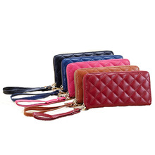 Women Wallets Fashion Quilted Genuine Leather Wallets Women Clutch Wallets Lady  Clutch Bag Coin Purse