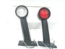 1 para 12 v 24 V 10-30 v LED Side zarys światła łodyga lampy Marker światła lampy E8 e-MARK przyczepy ciężarówki ciężarówki ciągnika wskaźnik świetlny