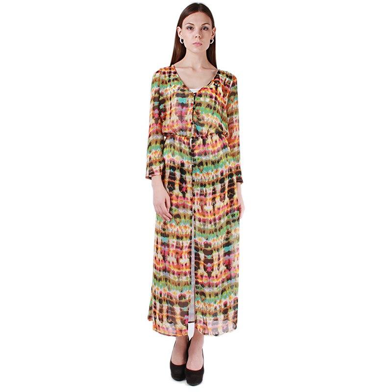 Ladies Woman Vintage Chiffon Long Sleeve Boho Gypsy Hippie