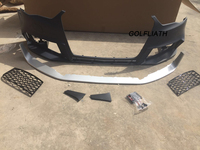 RS3 style PP+ABS front bumper kits Assembly center grille For Audi A3 2013 2015