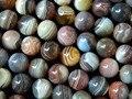 Piedra natural al por mayor de 10mm redondo liso botswana ágata granos de la joyería