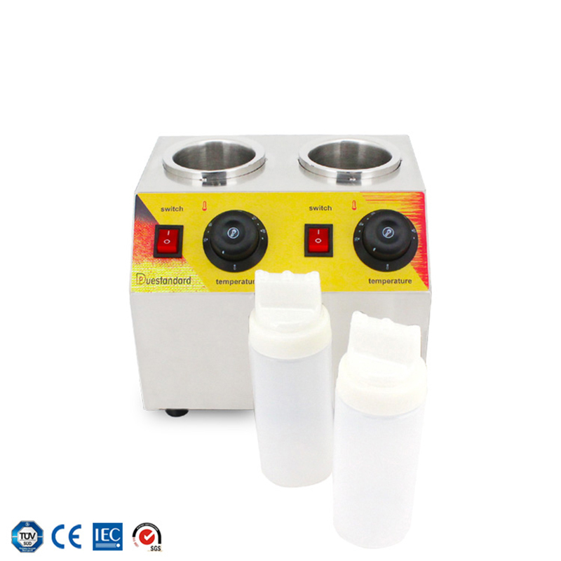 Stainless Steel Electric Jam Heater Commercial Hot Chocolate Soy Sauce Filling Spread Warmer Bottles Heating Machine NP-42 Y
