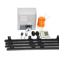 5m nylon racks 1300LBS Gate Opener Door Operator 600KG Remote Control Electric Automatic Gate Openers Sliding Gates Kit