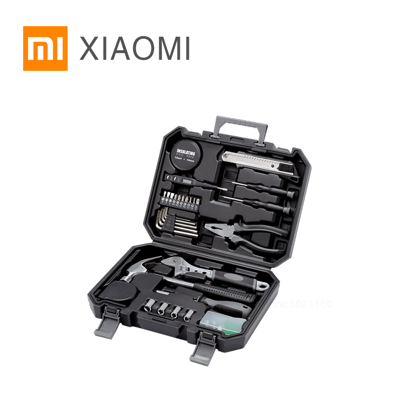 XIAOMI MIJIA JIUXUN Tools Home Daily Toolkit Repair Hand Tool Sets woodworking tools Screwdriver car Hammer Pliers Wrench-in Hand Tool Sets from Tools