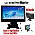 Цифровой TFT LCD Full HD 9 дюймов Монитор Автомобиля Резервную камера Заднего Вида двухсторонней AV в обратный приоритет автомобиля монитор дисплей
