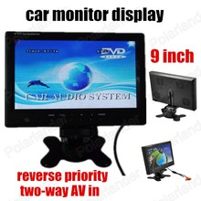 Digital TFT LCD Full HD 9 inch Car Monitor Backup Rear camera two way AV in