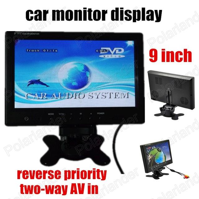 Digital TFT LCD Full HD 9 pulgadas de Coches Monitor de vista Trasera de la cámara de dos vías AV prioridad inversa coche monitor de pantalla
