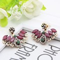 Fashion High Quality Turkish Crystal Earrings Antique Gold Plated 2PCS  Wings Earrings Women Jewelry Turkey Retro Bijoux