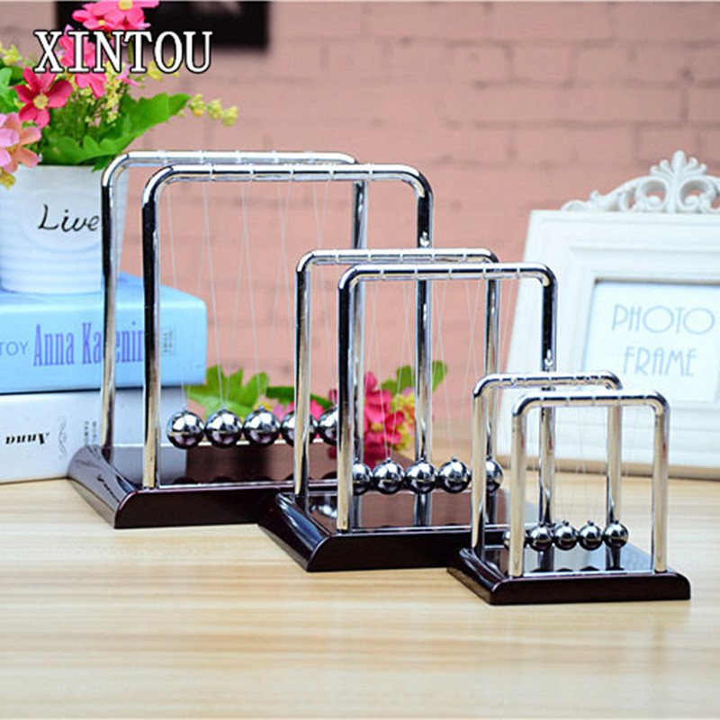 XINTOU Physics Teaching Newton Pendulum Ball Square Kinetic Perpetual Newtons Cradle Energy Balance Balls Christmas Kids Gift ...