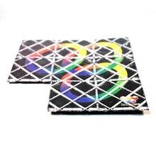 Lingao Plastic Black 3 Rings 8 Panels Magic Folding Puzzle Educational Twisty Toy for Little Kid