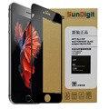 Sundigit cobertura completa protetor de tela de vidro temperado para iphone 7 7 plus 6 6 s plus 6 splus película protetora à prova de explosão