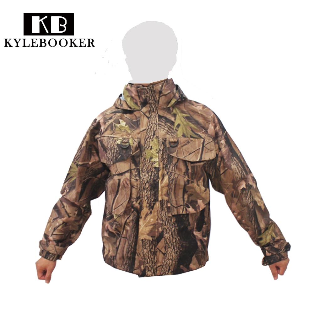 Nuevos hombres de camuflaje pesca con mosca impermeable ave de pesca ropa de caza transpirable zancudas chaqueta