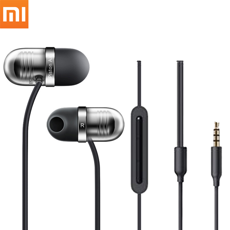 Original Xiaomi Capsule Earphone Mi Piston Earbuds In-Ear Wired Earphones With Microphone Silicone Auriculares For Samsung Meizu original senfer dt2 ie800 dynamic with 2ba hybrid drive in ear earphone ceramic hifi earphone earbuds with mmcx interface