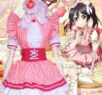 Love Live Lovelive! Cosplay Dress Pink Princess Girl Costume Lolita Maid Cos Dresses Nico Yazawa Halloween Cosplay Clothing