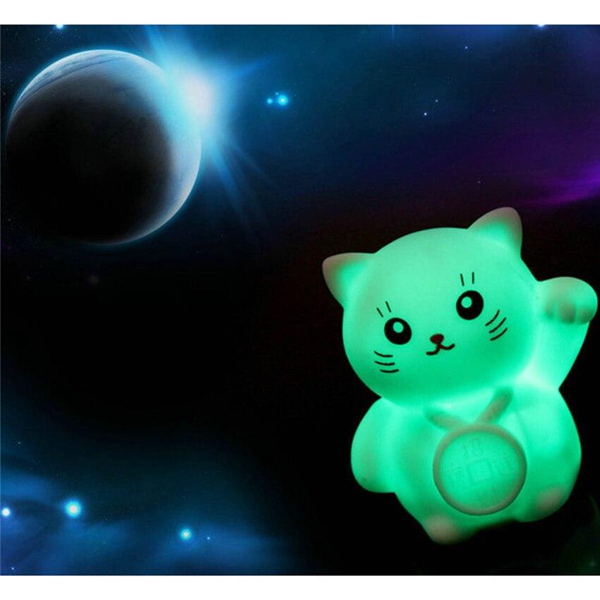 Новинка Магия Изменение Цвета красочные светодиодный Лаки Night Cat свет мигает Лампа Сп ...